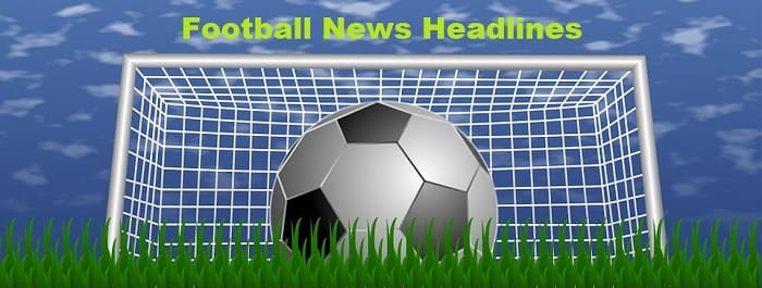 Soccer News Headlines - football and goal posts with grass